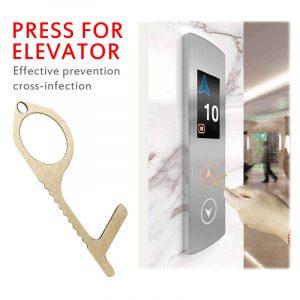 Ouvre-porte porte de sécurité anti-contact | Protection de la clé en laiton, Isolation de sécurité, nettoyage des mains, ouvre-porte antibactérien