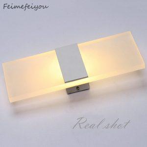 Feimefeiyou Mini 3/6/12W Led acrylique applique murale AC85-265V longue chaude blanc literie salon intérieur applique