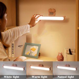 2020 nouveauté suspendus veilleuses magnétiques Stepless gradation lampe de Table 16 pièces lampe à LED rechargeable et Eye-protect lampe de bureau