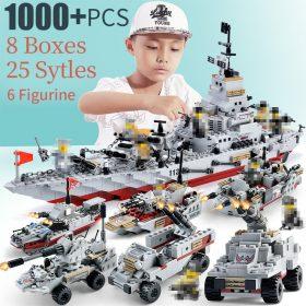 1000 pièces legoINGlys navire de guerre avec modèle en plastique navires de guerre marine navire marine sceaux marine bateau armée briques navire