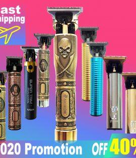 2020 USB Rechargeable tondeuse à cheveux électrique tondeuse à cheveux sans fil rasoir tondeuse 0mm hommes barbier cheveux Machine de découpe pour hommes