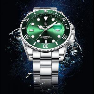 Montre à Quartz hommes DITAWATCH haut marque de luxe 2020 vert étanche montres hommes sport Date montres noir Relogio Masculino