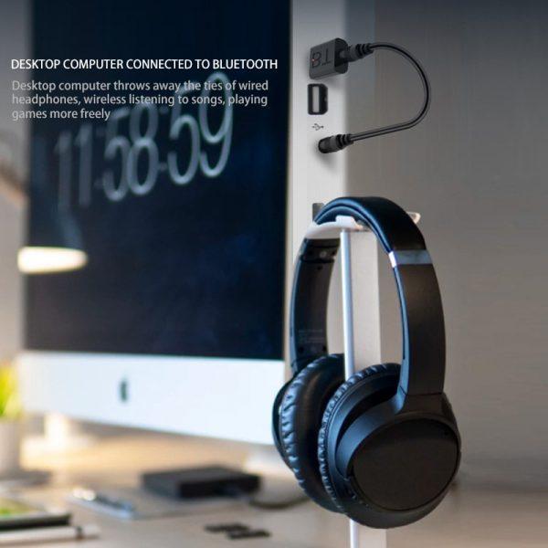 Mini USB Bluetooth 5.0 émetteur récepteur stéréo Bluetooth RCA USB 3.5mm AUX pour TV PC casque maison stéréo voiture HIFI Audio
