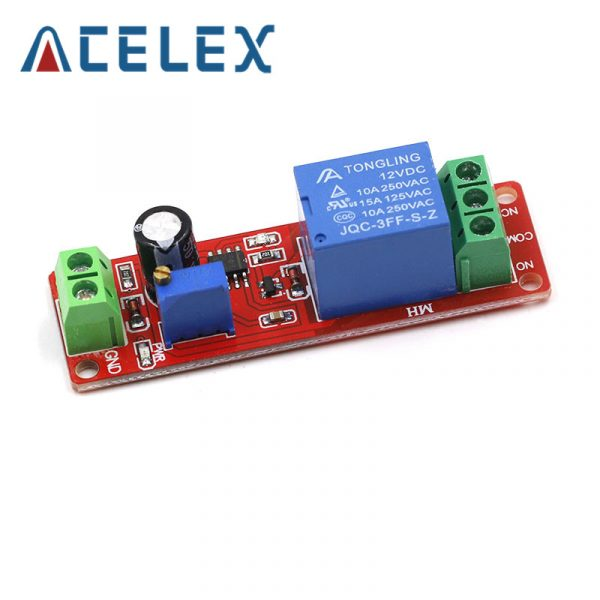 Module de protection de relais de retard de minuterie de cc 12V Module de contrôleur réglable de commutateur de minuterie NE555 0 à 10 secondes oscillateur de voiture de 0 ~ 10 S