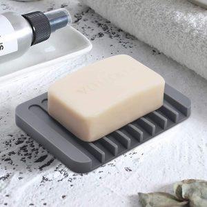Savon en Silicone douche cuisine salle de bain   Modèle économiseur de savon, chute d'eau, Design antidérapant porte-savon pour douche, cuisine, nettoyage facile, Silicone Flexible