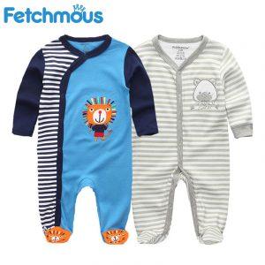 Bébé vêtements nouveau-né garçon fille pied barboteuses coton étoile motif bébé vêtements infantile enfant en bas âge costumes