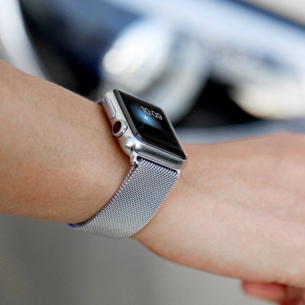 Bracelet pour montre Apple 5 4 3 2 38MM 40MM 42MM 44MM Bracelet à boucle milanaise Bracelet en acier inoxydable pour accessoires Iwatch