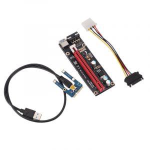 Mini PCIe à PCI Express 16X Riser pour ordinateur portable carte d'image externe EXP GDC BTC Antminer Miner MPCIe à carte d'extraction de fente PCI-E