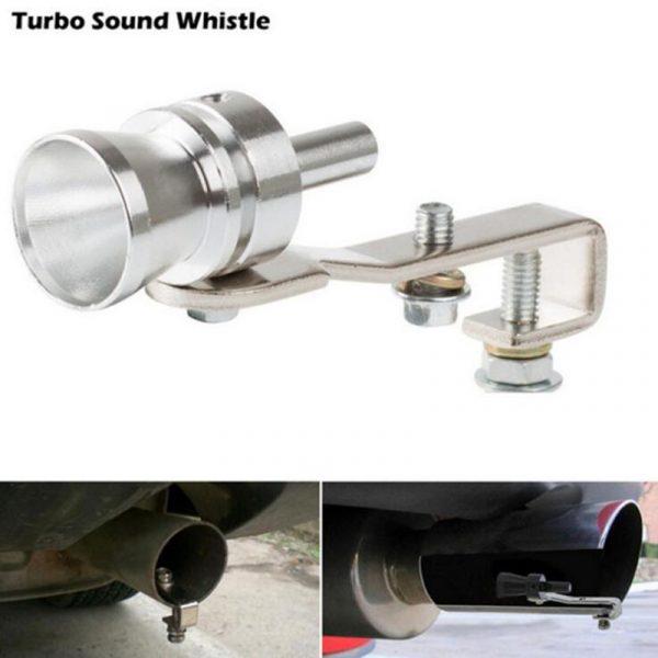 Moto voiture échappement faux Turbo sifflet tuyau son silencieux soufflez Valve universelle simulateur siffleur