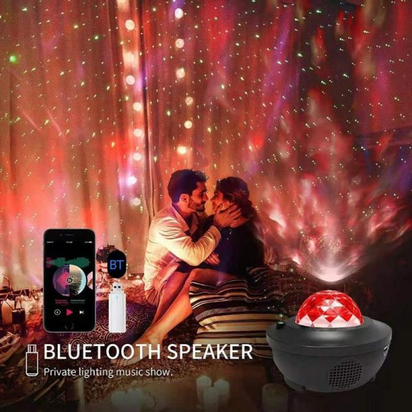 Coloré ciel étoilé galaxie projecteur Blueteeth USB commande vocale lecteur de musique LED veilleuse USB charge Projection lampe cadeau