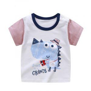Nouveau-né garçon fille été coton ensembles bébé unisexe dessin animé impression T-shirt Blouse garçons filles à manches courtes pull t-shirt décontracté chemises