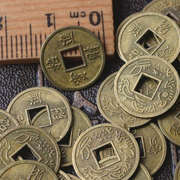 Ensemble de pièces de monnaie Feng Shui   Chinois, Feng Shui porte-bonheur/ancien, pièces de monnaie éducative des dix empereurs, monnaie de Fortune, Fortune et Fortune, 10 pièces