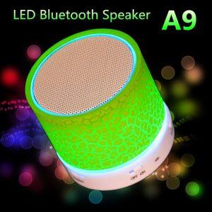 Haut-parleur Bluetooth Subwoofer stéréo sans fil Audio soutien TF carte haut-parleur lumineux LED coloré avec fonction Radio Micphone FM