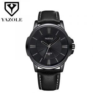 2019 montre-bracelet homme horloge Yazole montre à Quartz hommes Top marque de luxe célèbre montre-bracelet d'affaires montre à Quartz Relogio Masculino