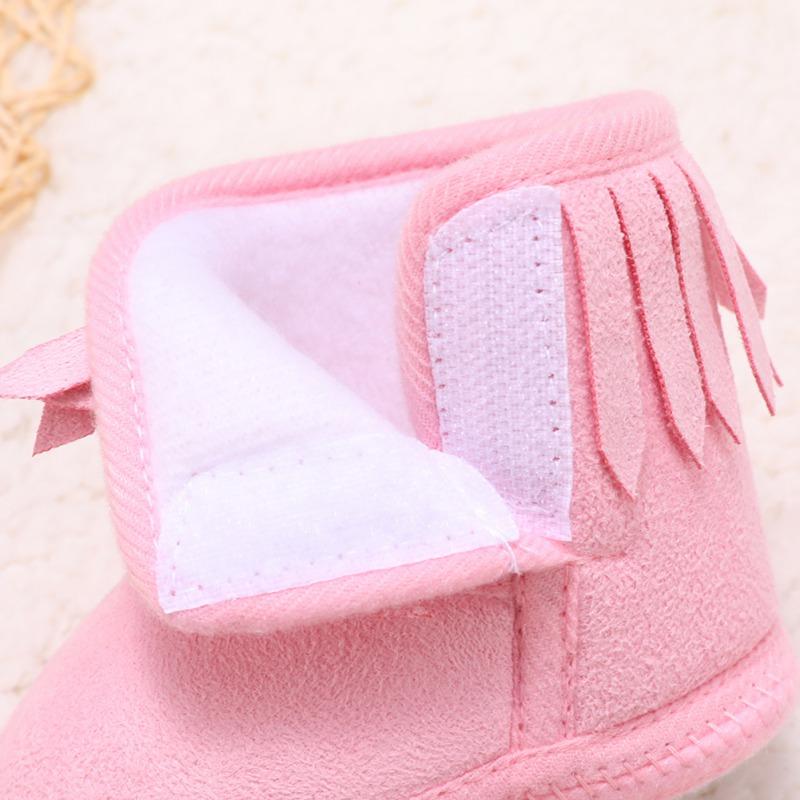 Bottes pour bébé | Bottes d'hiver chaudes pour nourrissons fille, nouveau-né, bottes en coton à fond souple et de couleur unie