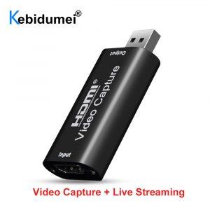 Mini HD 1080P HDMI vers USB 2.0 boîte d'enregistrement de jeu de carte de Capture vidéo pour ordinateur Youtube OBS Etc. Diffusion En direct Diffusion
