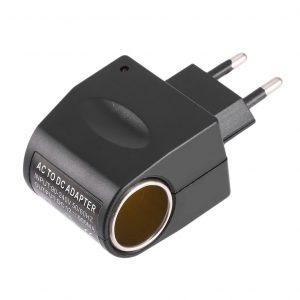 Universel plastique + métal 110 V-240 V 50-60Hz ca à 12V DC ue adaptateur secteur de voiture adaptateur convertisseur allume-cigare
