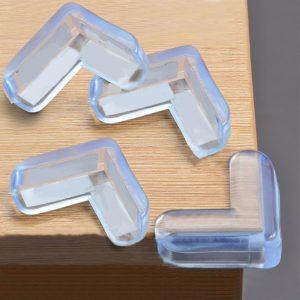 4 pièces en PVC souple Table de bureau garde bord sécurité enfant coin protecteur couverture de Protection coussin sûr avec ruban adhésif Double face