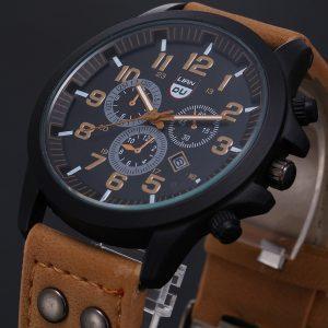 2019 Vintage classique montre hommes montres en acier inoxydable étanche Date bracelet en cuir Sport Quartz armée relogio masculino reloj