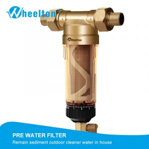"""Wheelton Water Pre Filter (WWP-02S) Carry Two Wipers Euro-standard Brass 30Years lifitime Purifier whole house 1/2""""&3/4""""&1 """""""