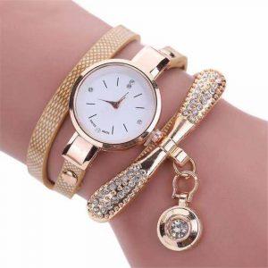 2020 mode décontracté femmes montres Bracelet Montre femmes Relogio cuir strass analogique Quartz Montre-Bracelet horloge femme Montre