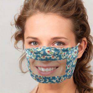 Livraison rapide écharpe masque pour visage 2020 unisexe masque avec fenêtre transparente Expression Visible, masque Transparent, lèvres visibles, Cubrebocas