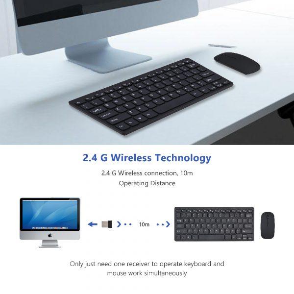 2.4G sans fil Bluetooth clavier avec souris pour tablette ordinateur portable iPad téléphone intelligent Support IOS Android téléphone russe espagnol