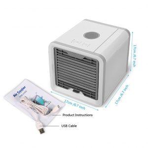 7 lumière USB Mini Portable climatiseur refroidisseur d'air ventilateur bureau espace refroidisseur espace personnel Air ventilateur de refroidissement pour la chambre à la maison
