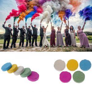 Coloré magie fumée tours accessoires conseils de feu amusant jouet pyrotechnique fumée gâteau brouillard magicien nouveaux articles de poche professionnels
