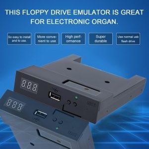 SFR1M44-U100K noir 5V 3.5 1.44MB 1000 lecteur de disquette à la Simulation d'émulateur USB prise Simple pour Keyboad Musical