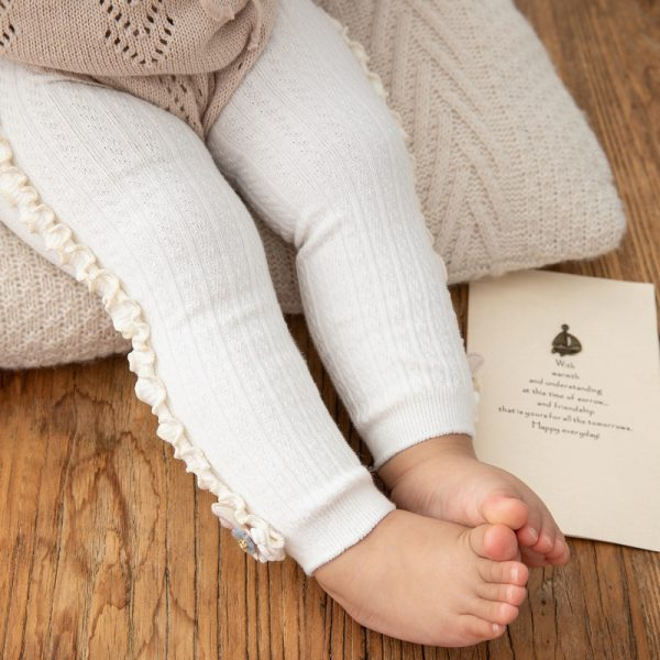 Pantalon de printemps automne couleurs bonbons | Pantalon chaud et confortable, en tricot, pantalon pour enfants, motif lapin mignon, moulant, coloré