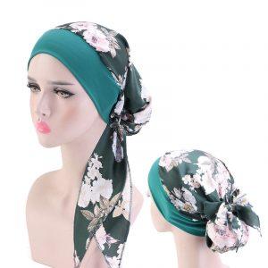 Mode impression fleurs femmes intérieure hijabs casquette musulmane tête écharpe turban bonnet prêt à porter islamique dames envelopper sous hijab casquettes