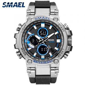 SMAEL 1803 Sport Watch Men Watches Waterproof 5Bar Dual Time Men's Military Watches Shock Resistant Alarm Clock montre homme