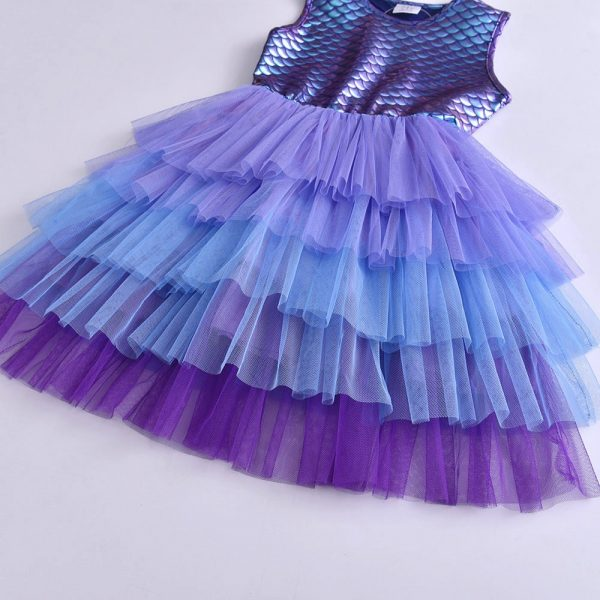 Robe de princesse pour spectacle pour petite fille et adolescente, style tutu pour bal d'école, anniversaire et fête, vêtement décontracté pour enfant
