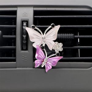 FORAUTO Air Freshener Butterfly Car-styling Car Perfume Natural Smell Air Conditioner Outlet Clip Fragrance Auto Accessories
