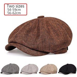 Chapeau béret rétro unisexe pour hommes, casquette octogonale sauvage, printemps et automne, 2020