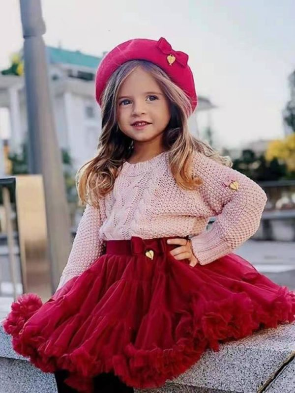 Jupe tutu à peluche pour petites filles, mini jupe princesse en tulle, pour fête, danse, pour enfants