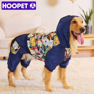 HOOPET New Pet Clothes Warm Cotton Leisure Style Autumn Overalls for Dogs winter Coat Large Dog Prints Down Jacket Dog