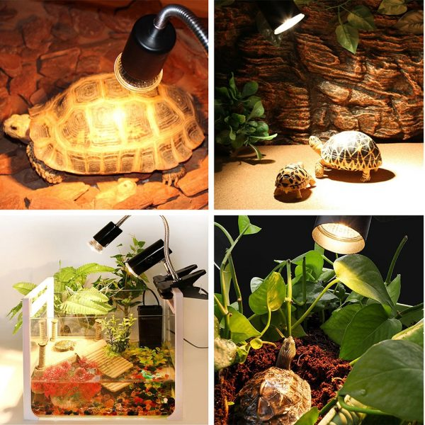 25/50/75W UVA+UVB 3.0 Reptile Lamp Turtle Heating Lamp Mini Pet Heat Bulb Amphibians Lizards Temperature Controller UV Light