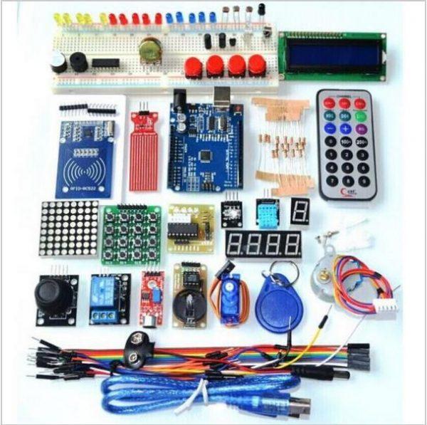 Kit de démarrage RFID pour Arduino UNO R3 Le plus récent, version améliorée, suite d'apprentissage avec boîte de vente au détail