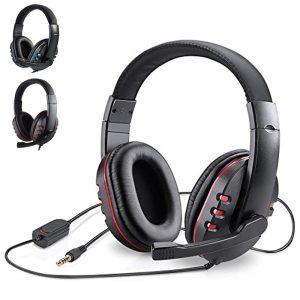Casque de jeu stéréo pour Xbox one PS4 PC, casque d'écoute filaire, 3.5mm, avec Microphone, contrôle du Volume