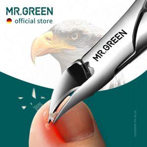 MR.GREEN Nail Clippers Ingrown Toenail Cutters Pedicure Tools Anti-Splash Olecran Podiatry Paronychia Correction Manicure tool