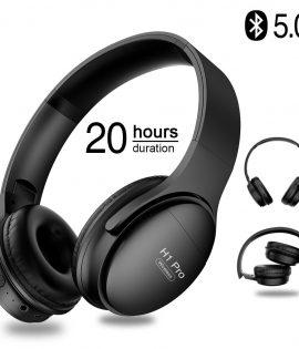 Casque filaire et sans fil H1 Pro, oreillettes de jeu, Bluetooth v5.0, stéréo, over-ear, stop-bruit, avec support micro et carte TF