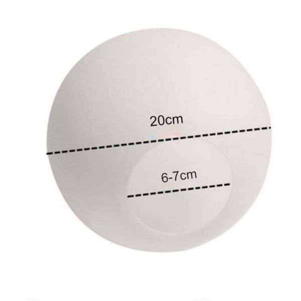 White Glass Lamp Shade, Milky Globe Lampshades Fitting Lamp, D10cm D12cm D15cm D20cm D25cm Round Light Cover, Pantalla Lampara