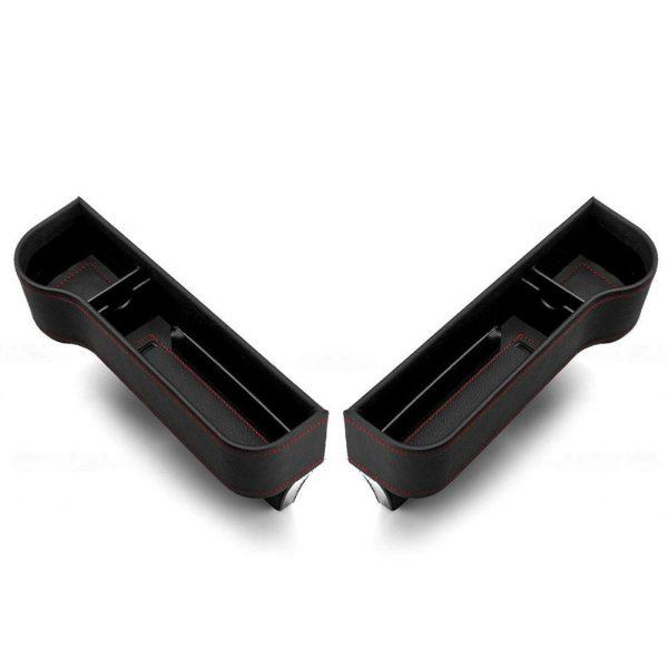 Car Seat Gap Storage Box Cup PU Leather Pocket Catcher Organizer Phone Bottle Cups Holder Multifunctional Car Accessories
