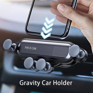 Gravity Cell Phone Holder for Car Mount Air Vent Clip GPS Holder Stand Bracket No Magnetic Phone Holder Universal Car Bracket