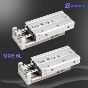 MXS MXS6L-10 MXS6L-10A -10AS -10AT MXS6L-10B -10BS -10BT MXS6L-10C -10CS -10CT Dual rod Rail air Slide guide cylinder Pneumatic