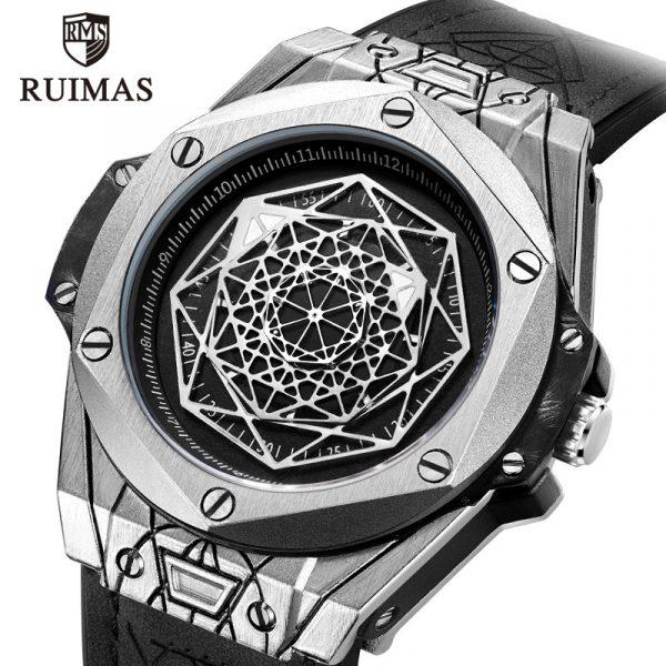 RUIMAS Luxury Top Brand Quartz Watches Men Leather Strap Military Sports Wristwatch Man Waterproof Watch Relogios Masculino 533G