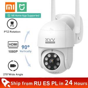 Xiaomi – caméra intelligente d'extérieur IP P1, 1080P, PTZ, Webcam Wifi rotative, détection humanoïde, étanche, sécurité, fonctionne avec l'application Mi Home