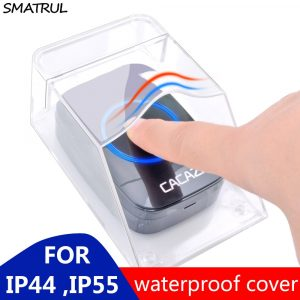 SMATRUL Waterproof Cover For Wireless Doorbell Smart Door Bell Ring Chime Button Transmitter Launchers Heavy Rain Snow CACAZI